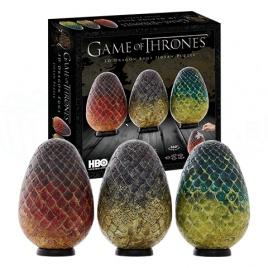 Game of Thrones - 3D Puzzle tri dračie vajcia - stredné
