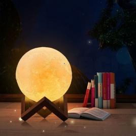 3D lampa - mesiac