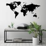 Drevená mapa na stenu čierna - MINI