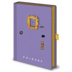 Priatelia - poznámkový blok v dizajne dverí