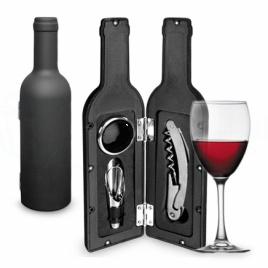 Vínový set v tvare fľaše - mini