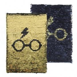 Harry Potter - blok Sequin - Blesk a okuliare