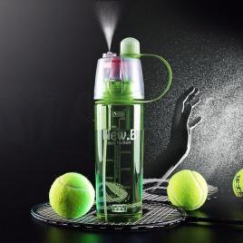Fitness fľaša so sprejom na osvieženie (zelená)