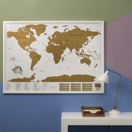 Cestovateľská stieracia mapa - Svet XXL