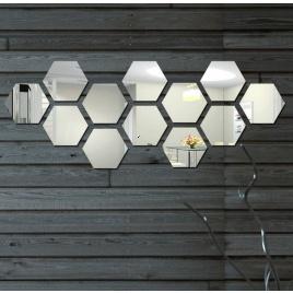 Nálepky na stenu - zrkadlo mini - 12ks balenie