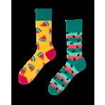 Veselé ponožky - Červený melón S