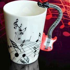 Hudobný hrnček - elektrická gitara (červená)