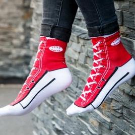 Sneakers ponožky - červené