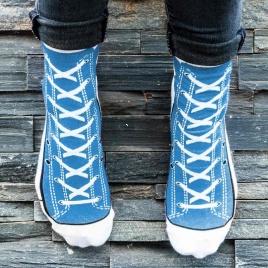 Sneakers ponožky - modré