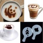 Šablóny na zdobenie kávy