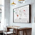 Stieracia mapa sveta - Blanc edícia strieborná XL