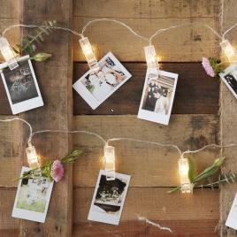 Svietiace LED štipce na fotky