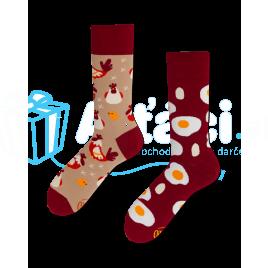 Veselé ponožky - Vajíčko a sliepka S