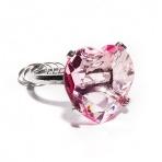 Kľúčenka diamant - ružové srdce