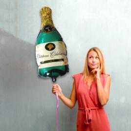 Balón - zelené šampanské XL