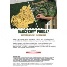 Darčekový poukaz - zarámovaná mapa Slovenska
