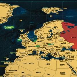 Stieracia mapa sveta - slovenská verzia Deluxe XL