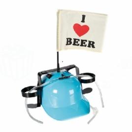 Pivná helma - Milujem pivo (svetlo modrá)