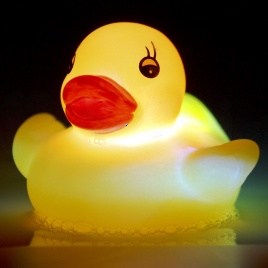 LED gumová kačička