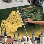 Stieracia mapa Slovenska DELUXE XL - zlatá