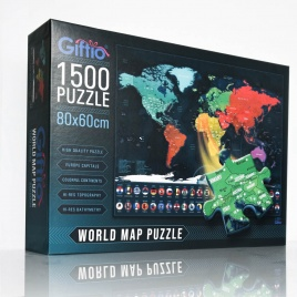 Puzzle 1500 - Mapa Sveta