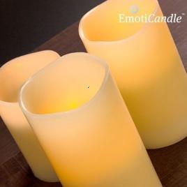 Elektrické sviečky z vosku (ovládané fúknutím)
