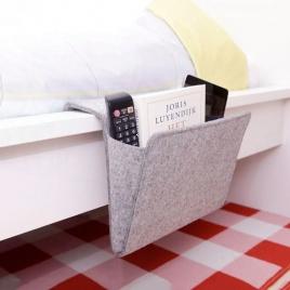 Organizér na posteľ - šedý