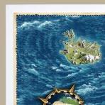 Zarámovaná mapa EURÓPY - biely rám - platinová