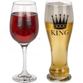 Sada pohárov - Kráľovná a Kráľ