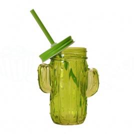 Retro smoothie poháre - 6ks kaktus