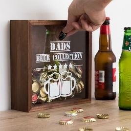 Dekoračny box na pivné vrchnáky