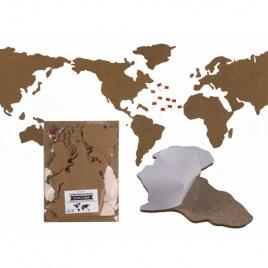 Korková mapa sveta - puzzle