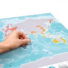 Cestovateľská stieracia mapa oceány Deluxe