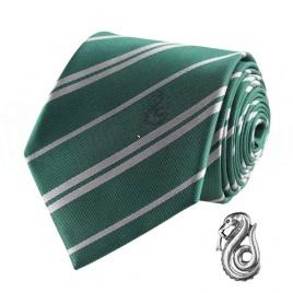 Harry Potter - kravata a manžetový gombík Slizolin
