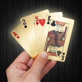 Pozlátené hracie karty