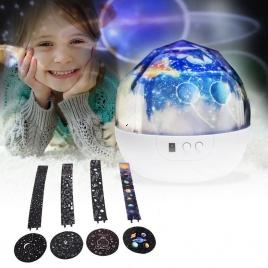Vesmírny projektor so 4 motívmi