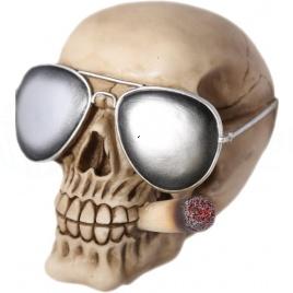 Sporkasa - Lebka s okuliarmi a jointom