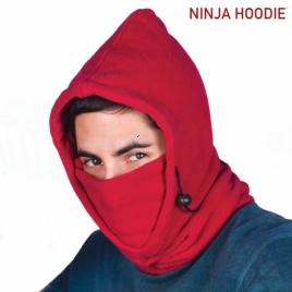 Ninja kapucňa (červená)