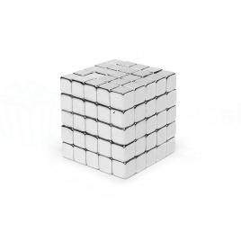 Magnetická skladacia kocka - strieborná
