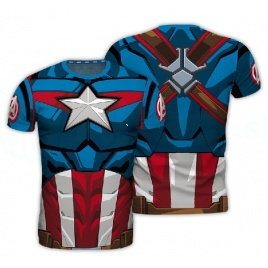 Marvel Avengers - tričko Kapitán Amerika - L