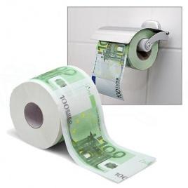 Toaletný papier 100 Euro