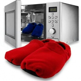 Ohrievateľné papuče do mikrovlnky - červené
