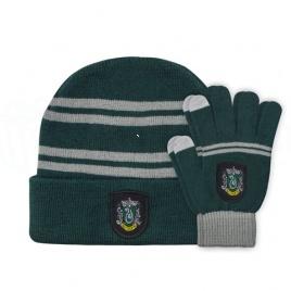 Harry Potter - Sada detská čiapka a rukavice Slizolin