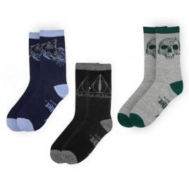 Harry Potter - ponožky Dary smrti - set 3 párov