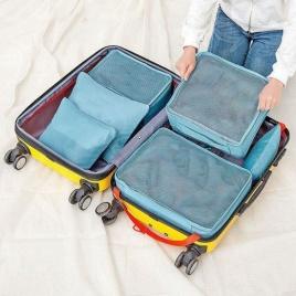 Sada cestovných organizérov do kufra - modrý