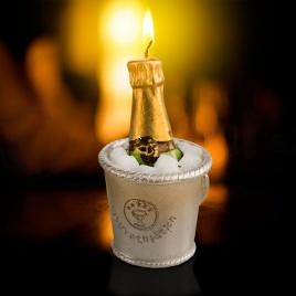Sviečka so šampanským
