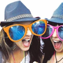 Gigantické párty okuliare (Oranžové)