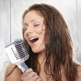 Sprchová hlavica - retro mikrofón