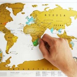 Cestovateľská stieracia mapa - Svet XL