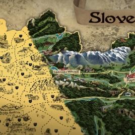 Stieracia mapa Slovenska RETRO XL